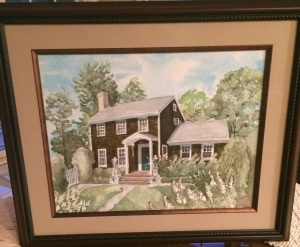 hampton house painting framed