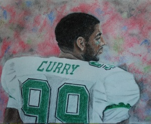 Vinny Curry pastel drawing