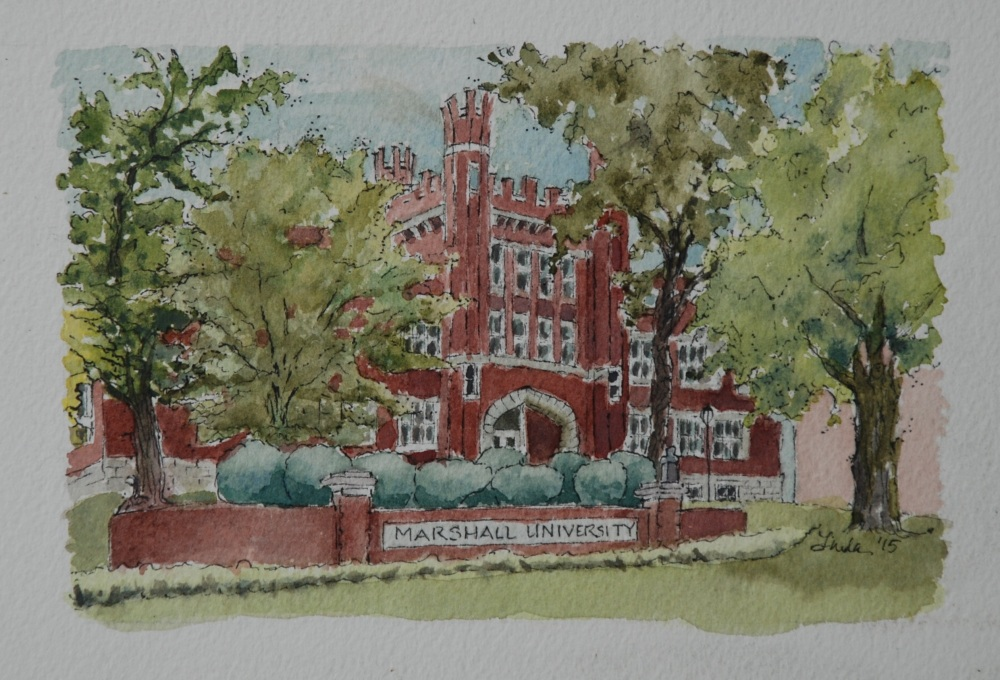 Old Main painting 5x7.2