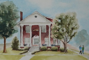 Alpha Xi house painting2