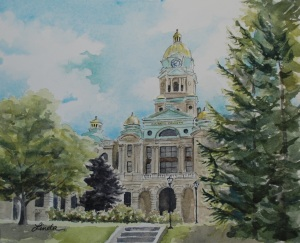Cabell County Courthouse painting