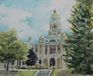 Cabell County Courthouse painting2