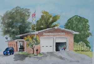Fire station painting