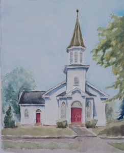 Guyandotte Methodist Church painting