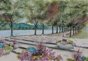 Harris Riverfront Park painting