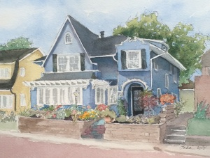 Mortimer Place blue painting