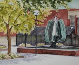 MU fountain painting
