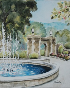 Ritter Park fountain painting