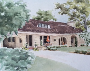 Stone house painting3